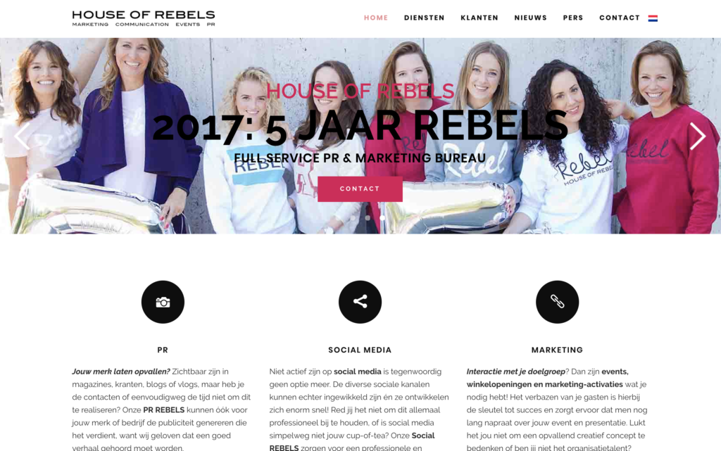 website ontwikkeling House of Rebels